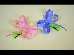 DRAGONFLY Ribbon Sculpture Spring Bug Animal Hair Clip Bow DIY Free Tuto...