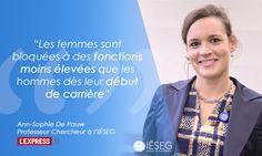 """""""Ce 'plancher collant' qui ralentit la carrière des femmes"""" avec Ann-Sophie De Pauw de l'IÉSEG  via L'Express #IESEGresearch"""