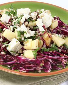 Salada de Couve Roxa e Feta
