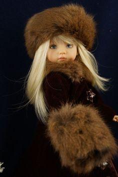 "Dianna Effner 13"" Little Darling *WINTER MINK* Ensemble by Ladybugs Doll Designs"