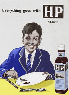 The original recipe was invented and developed by Fred Gibson Garton a grocer from Nottingham. He registered the name HP Sauce in 1895, he called the sauce HP because he had heard that it was being used in the restaurant in The Houses of Parliament. For many years the bottle labels have carried a picture of the House of Parliament (more info here) HP sauce on a bacon sandwich yum!