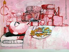 Philip Guston, Painting, Smoking, Eating, 1973. Öl auf Leinwand 196,8 x 262,9 cm; Collection Stedelijk Museum, Amsterdam
