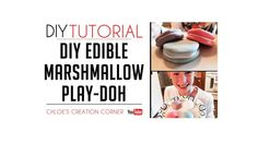 Thanks for checking out my DIY Edible Marshmallow Play-Doh tutorial! This one was a lot of fun.