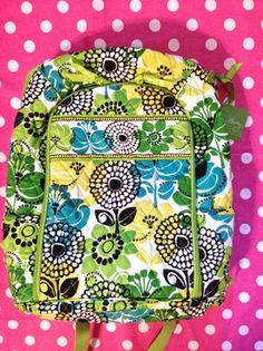 New Vera Bradley Limes Up Floral Laptop Backpack School Book Duffle Tote Bag | eBay