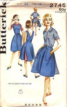 B2745-12--Swirl type dress AND playsuit pattern.