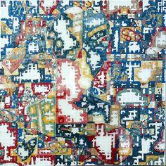 la-mort-d-agnes.jpg - Peinture,  60x60x3 cm ©2016 par nicopasla -