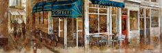 Coffee by Noemi Martin Painting Print on Wrapped Canvas