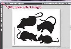 mice silhouettes template martha stewart - Bing Images