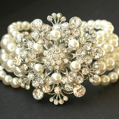 ginalouisadesigns:    via http://www.etsy.com/listing/30666633/bouquet-victorian-rhinestone-and-pearl