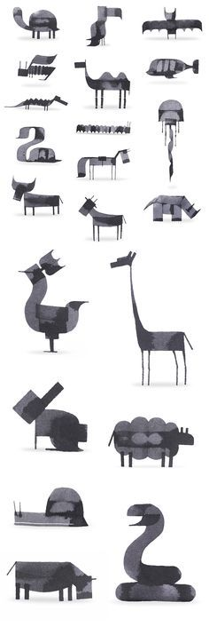 New Calligraphy Animals by Andrew Fox