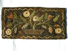 Molly began this rug at Swan Ridge Rug Hooking camp in Montana.  Our instructor was Maggie Bonanomi.  What an amazing trip!