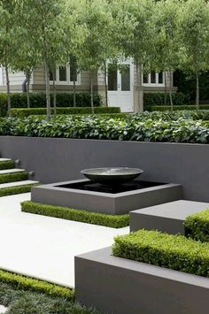 8 Portentous Tips: Contemporary Garden Design contemporary landscape acrylics.Contemporary Living Room With Fireplace contemporary industrial fireplaces. Modern Landscape Design, Modern Garden Design, Modern Landscaping, Contemporary Landscape, Backyard Landscaping, Creative Landscape, Abstract Landscape, Landscape Architecture, Landscaping Ideas