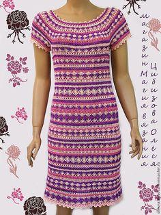 """Купить Вязаное платье """"По мотивам Ванессы"""" - абстрактный, вязаное платье, вязаное платье крючком"""