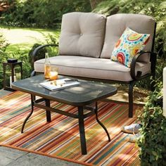 SONOMA outdoors Belle Harbor Stationary Love Seat and Coffee Table Set #kohls