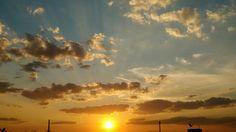 O por do sol que e muito lindo