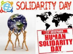 Image result for international human solidarity day 2019 theme