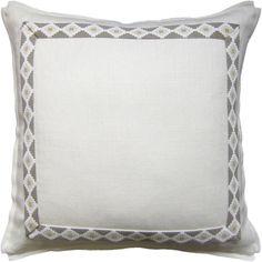 Pretty White Linen decorative pillow.  Free shipping.