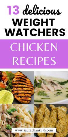 Weight Watchers Meal Plans, Weigh Watchers, Weight Watchers Breakfast, Weight Watcher Dinners, Weight Watchers Chicken, Ww Recipes, Chicken Recipes, Healthy Recipes