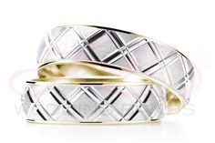 Hers & His Two Tone Wedding Rings Set