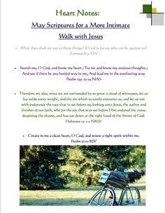 Heart Notes ~ May Scriptures for a More Intimate Walk with Jesus