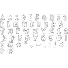 Meshuggeneh ❤ liked on Polyvore featuring fillers, doodles, text, words and alphabet