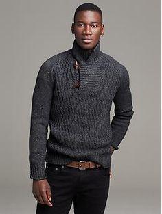 Heritage Textured Mock Pullover Sweater Sale 448fced3e