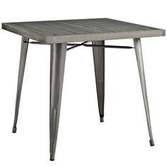 Alacrity Industrial Dining Table Gunmetal
