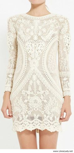 Lace ivory dress-but needs to be much longer