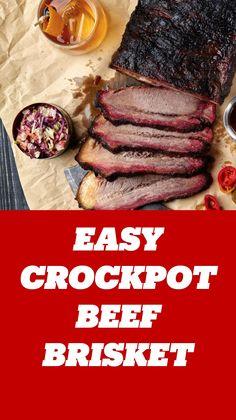 Beef Ribs Crockpot Slow Cooker, Beef Brisket Slow Cooker, Crockpot Recipes, Slow Cooker Recipes, Cooking Recipes, Easy Brisket Recipe, Bbq Sauce Ingredients, Meat Diet, Boston Cream Pie