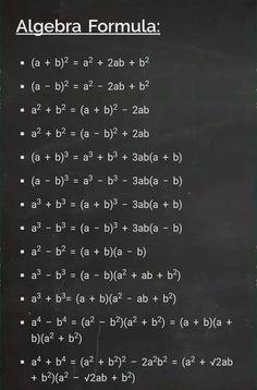 Life Hacks For School, School Study Tips, Schul Survival Kits, Math Formula Chart, Algebra Formulas, Cool Math Tricks, Math Tutorials, Essay Writing Skills, Maths Solutions