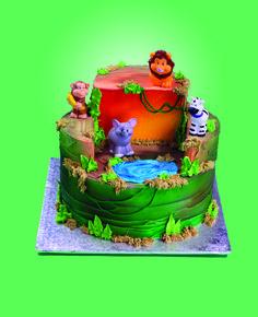 Jungle animals to decorate my cake, super cute!