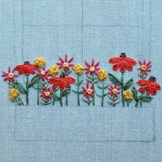 A peek at a work in progress. Those straight stitch cosmos may get axed for a different flower or stitch style, but I do love this part of the embroidery process SO much...the playing with colors and stitches until I find what I want. I hope you all are enjoying your weekend, too!