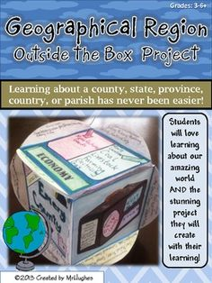 Arts Activity: A hands-on project that is meant to allow students the chance to get to know a geographical region or area, such as a country, state, county, or province! Finished project is a Cube Social Studies Projects, 4th Grade Social Studies, Social Studies Activities, Teaching Social Studies, Classroom Activities, Teaching Resources, Classroom Ideas, Teaching Ideas, Country Report