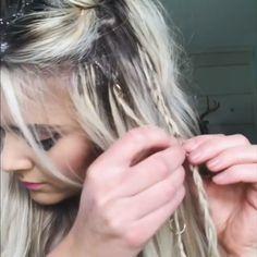 Easy Hair Tutorial - Lilly is Love Bun Hairstyles For Long Hair, Long Hair With Bangs, Braided Hairstyles Tutorials, Concert Hairstyles, Rides Front, Long Hair Video, Hair Videos, Gorgeous Hair, Prom Hair