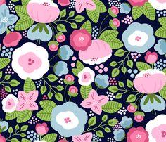 Backyard - Moonlight fabric by natitys on Spoonflower - custom fabric