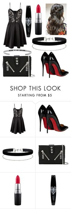"""#317"" by glitterunicorns-are-awesome ❤ liked on Polyvore featuring Lipsy, Christian Louboutin, Miss Selfridge, Kenzo and MAC Cosmetics"