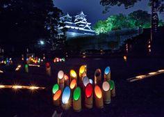 熊本 みずあかり Bamboo light in Kumamoto, Japan