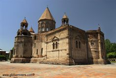 Mayr Tachar Cathedral, Echmiadzin, ARMENIA. Also known as the Mother Church of Armenia. The town of Echmiadzin (the holiest town in Armenia) is located in the Armavir province, about 20 km west of Yerevan