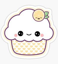 'Cute Strawberry Cupcake' Sticker by sugarhai Cute Kawaii Drawings, Kawaii Doodles, Cute Doodles, Kawaii Art, Kawaii Anime, Kawaii Stickers, Cute Stickers, Cupcake Drawing, Cute Strawberry