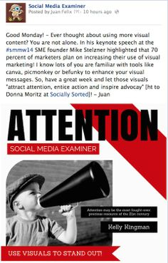 Rethink visuals attract attention