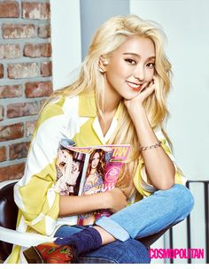 Sistar Bora and SNSD Tiffany - Cosmopolitan Magazine September Issue '15