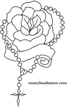 Rosary Drawings | rose tattoo,banner tattoo,rosary tattoo,name tattoo design,flower ...