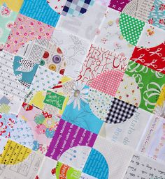 Drunkard's Path Quilt - sewing curves without pins tutorial - Red Pepper Quilts