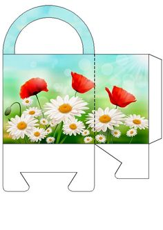 Daisies and Poppies bag JB