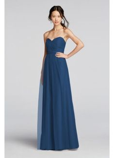 Pleated Bodice Tulle Dress with Removable Belt BM888