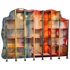 Gaetano Pesce Unqiue Modular Library, circa 2010 Italy | From a unique collection of antique and modern bookcases at https://www.1stdibs.com/furniture/storage-case-pieces/bookcases/