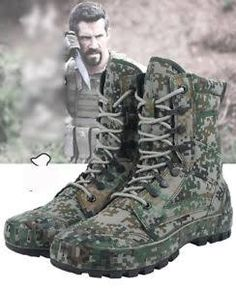 Men women Woolen lined Outdoor Tactical Army SWAT Hiking Camo Ankle Boots Shoes