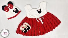 Sue's Crochet and Knitting: Mickey Minnie Mouse Baby Dress Set