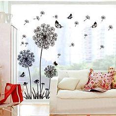 Doudouwo ® Botanical Solid Paardebloem Style En Vlinder muurstickers   – EUR € 9.69