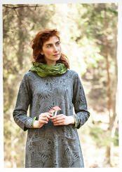 """""""Svampskogen"""" shawl in eco-cotton"""